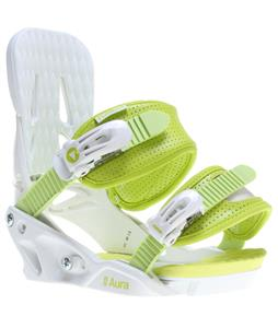 Forum Aura Snowboard Bindings White Lemonade