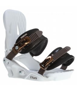 Forum Aura Snowboard Bindings White Ballad