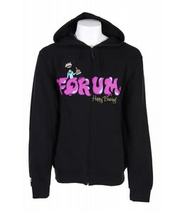 Forum Bob Ross Full Zip Hoodie Black