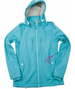 Forum Discrete Softshell Snowboard Jacket Light Blue