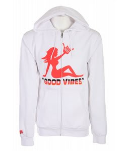 Forum Good Vibes Full Zip Hoodie White