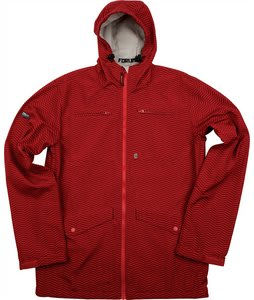 Forum Jackson Softshell Snowboard Jacket Red Herringbone
