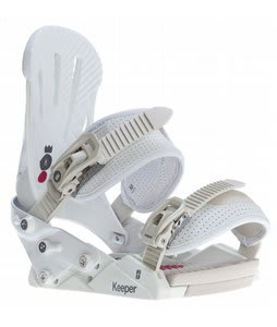 Forum Keeper Snowboard Bindings White Delight