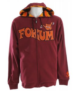 Forum Shaka Zip Hoodie Red