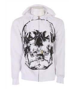 Forum Skull Zip Hoodie White