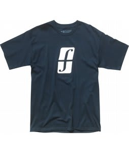 Forum Split Logo T-Shirt Blue Up