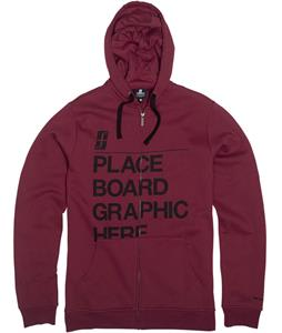 Forum Tertiary Fullzip Hoodie Ron Burgundy
