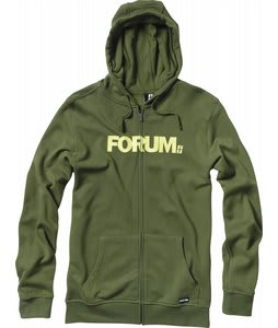 Forum Werdmark Full Zip Hoodie Militia Green