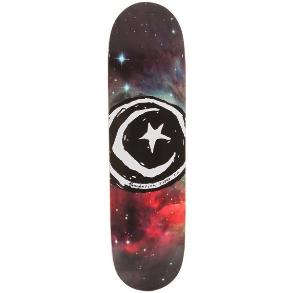 Foundation Star & Moon Galaxy Skateboard Deck