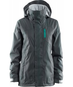 Foursquare Pillar Snowboard Jacket Granite Aligned Pinstripe