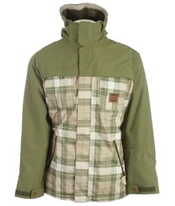 Foursquare Recoil Snowboard Jacket Backwoods Print/Green Beret