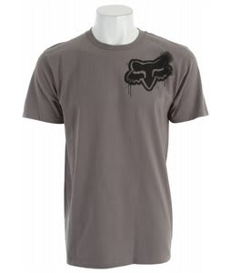 Fox Stenciled Head T-Shirt Dark Grey