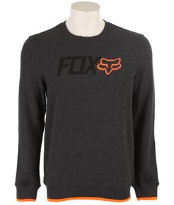 Fox Warmup Crew Sweatshirt Heather Black