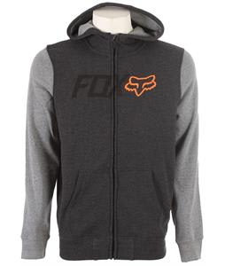 Fox Warmup Zip Hoodie Heather Black