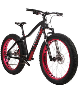Framed Alaskan Carbon X7 Fat Bike w/ Bluto Fork Black/Red