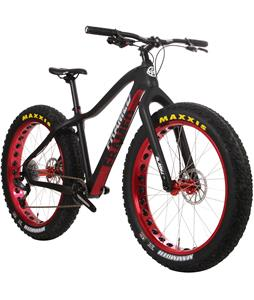 Framed Alaskan Carbon X7 Fat Bike w/ Carbon Fork Black/Red