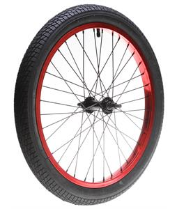 Framed Attack Front BMX Wheel Anodized Red 3/8in