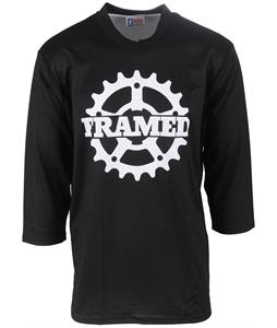 Framed Cog 3/4 Sleeve Bike Jersey