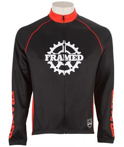 Framed Cog Bike Jersey Black/Red