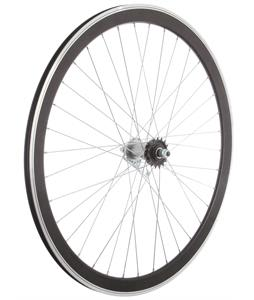 Framed Deep V Rear Bike Wheel Black 700C