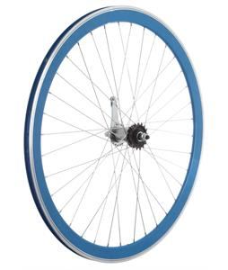 Framed Deep V Rear Bike Wheel Blue 700C