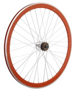 Framed Deep V Rear Bike Wheel Orange 700C