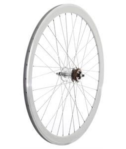Framed Deep V Rear Bike Wheel White 700C