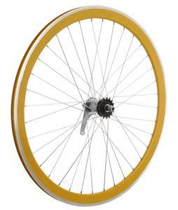 Framed Deep V Rear Bike Wheel Yellow 700C