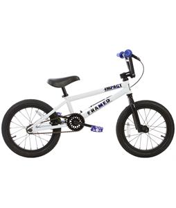 Framed Impact 16 BMX Bike White/Blue 16in/16.5in Top Tube