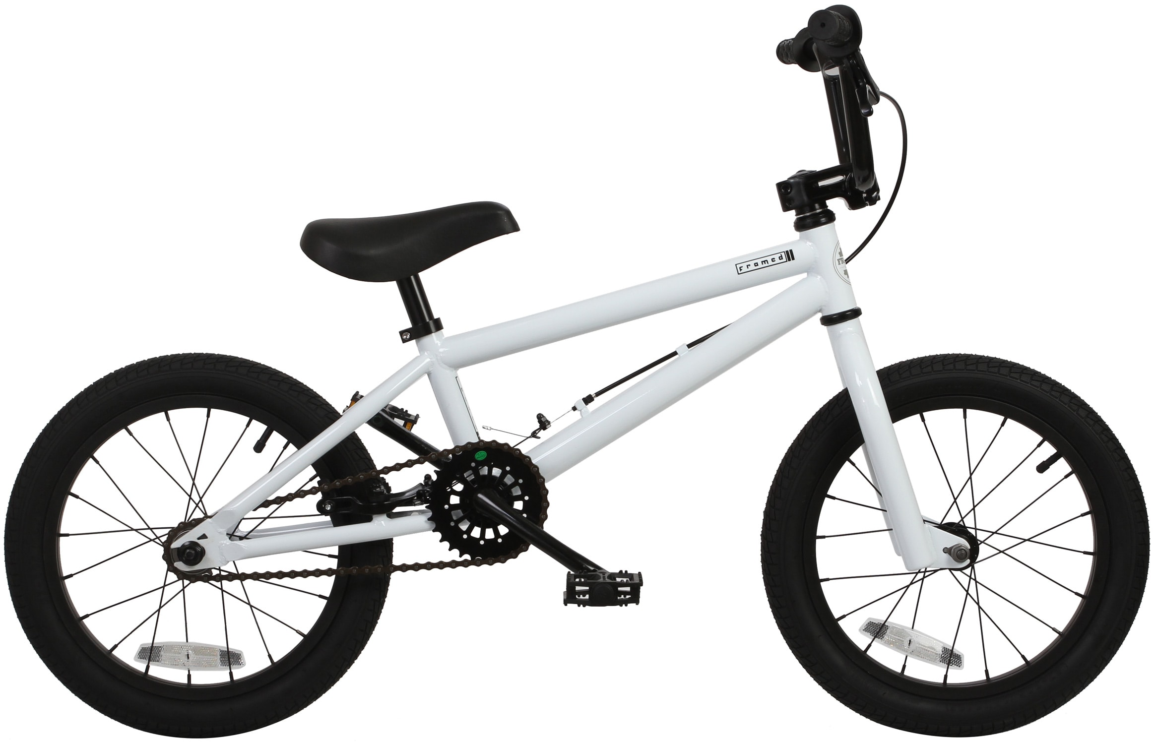 Race Bmx Store Framed Impact Kids Bmx Bike Whtblk