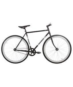 Framed Lifted Flat Bar Bike S/S Black/White 56cm