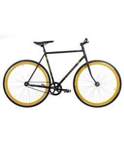 Framed Lifted Flat Bar Bike S/S Black/Yellow 56cm
