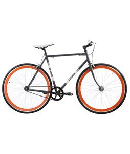 Framed Lifted Flat Bar U-Brake Bike S/S Grey/Orange 56cm/22in