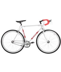 Framed Lifted Drop Bar U-Brake Bike S/S White/Red 56cm