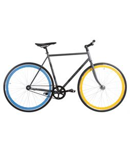 Framed Lifted LTD Flat Bar Bike S/S Grey/Blue/Yellow 52cm