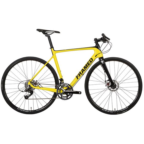 Framed Rodez Carbon Flat Bar Bike - Rival 22 & Alloy Wheels