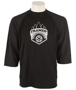 Framed Team 3/4 Bike Jersey Black