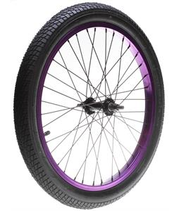 Framed Team Front BMX Wheel Anodized Purple 3/8in