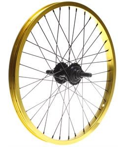 Framed Team Rear 9T BMX Wheel Yellow 14mm