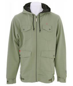 Foursquare Leaf Maze Full Zip Hoodie Olivine