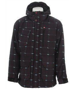 Foursquare PJ Snowboard Jacket Black Logo Grid