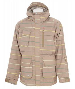 Foursquare PJ Snowboard Jacket Tan A Poppin