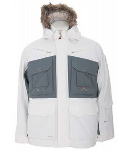 Foursquare Adams Snowboard Jacket White/North Sea Blue