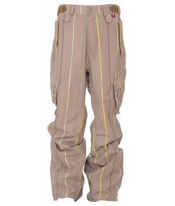 Foursquare Boswell Snowboard Pants Tan A Poppin