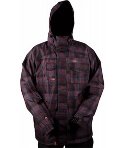 Foursquare Serle Snowboard Jacket Black Rip Plaid