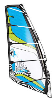 Shop for Gaastra Poison Windsurf Sail Black/Blue 4.2M