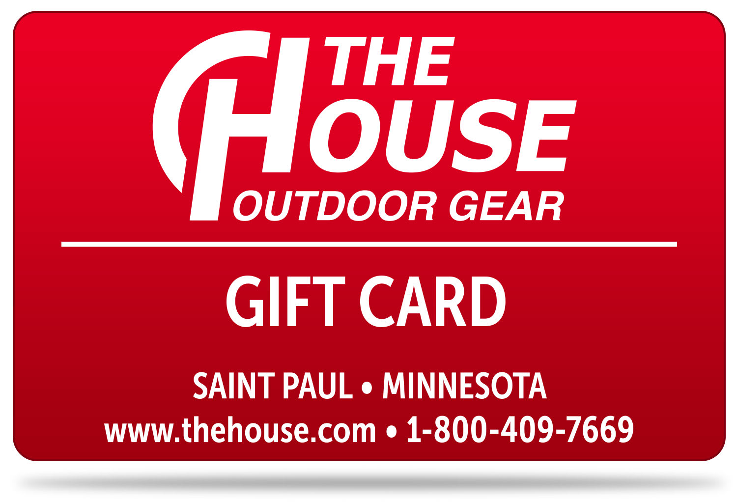 Shop for The House $15 Gift Certificate - Gift Card