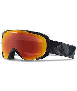 Giro Compass Goggles Black Icon/Amber Scarlet Lens