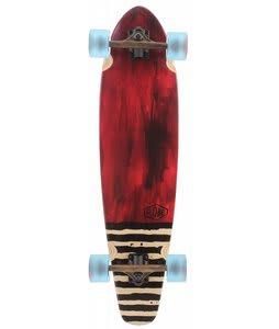 Globe Arcadia Longboard Skateboard Complete Red
