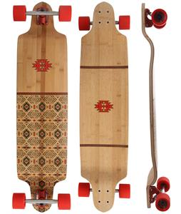Globe Bannerstone Bamboo Longboard Complete Red